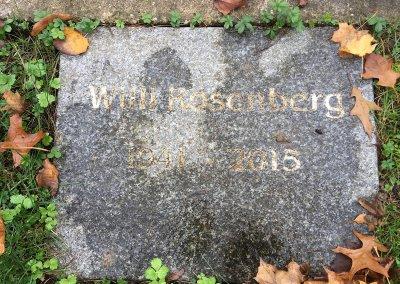 Grab Willi Rosenberg vor der Reinigung