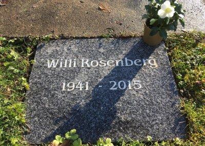 Grab Willi Rosenberg nach der Reinigung